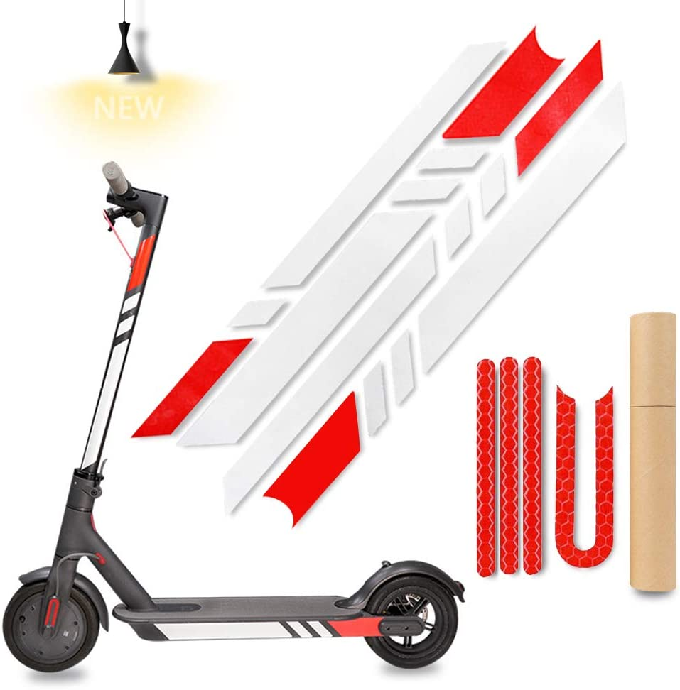 Es2 Es4 Electric Scooter Accessories BAOXIN Scooter Reflective Sticker Waterproof Reflective Decals Decorative for Xiaomi Mijia M365 E-Scooter and Ninebot Es1