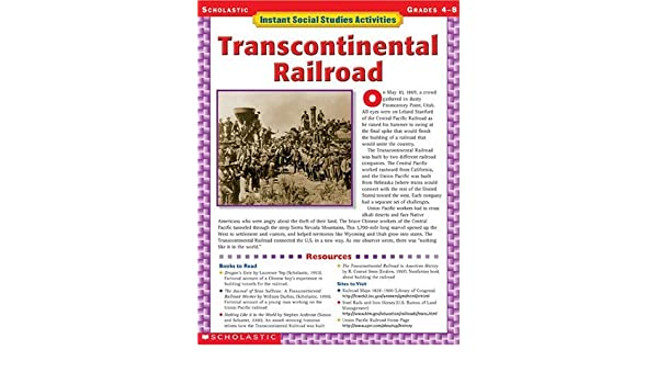 Amazon.com: Instant Social Studies Activities: Transcontinental ...