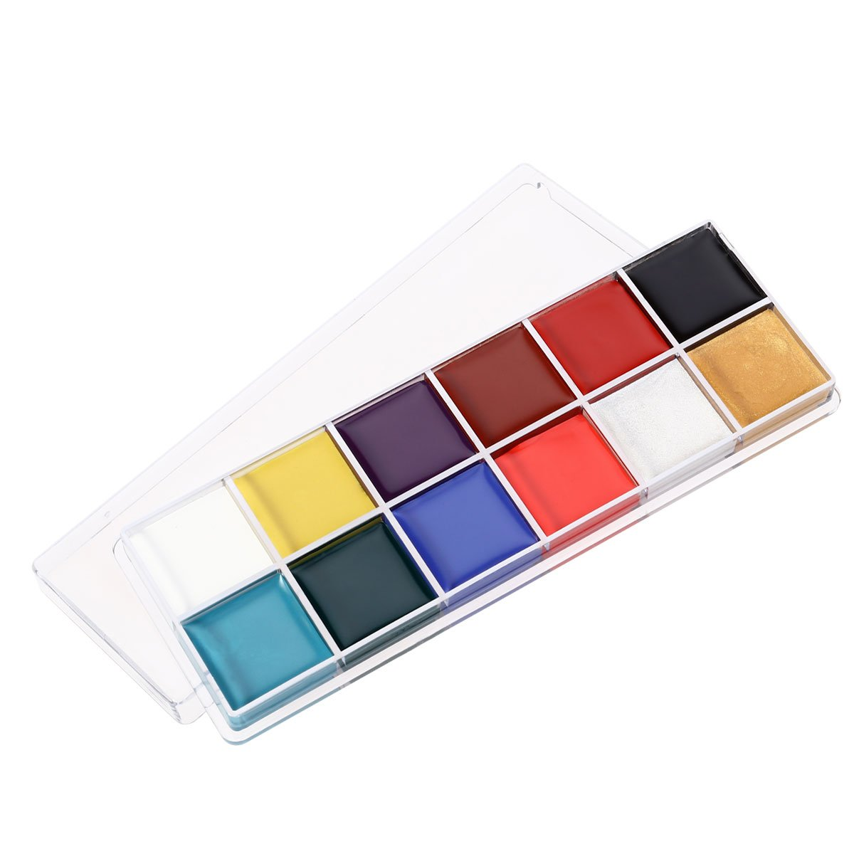 NUOLUX 12 en 1 Flash Visage Corps Peinture Huile Art Maquillage Noël Déguisements Party Palette