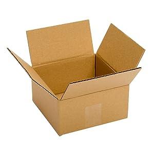 Pratt PRA0008 100% Recycled Corrugated Cardboard Box, 6