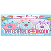 Ooly Magic Bakery Unicorn Donuts Scented Erasers - Set of 3,112-090