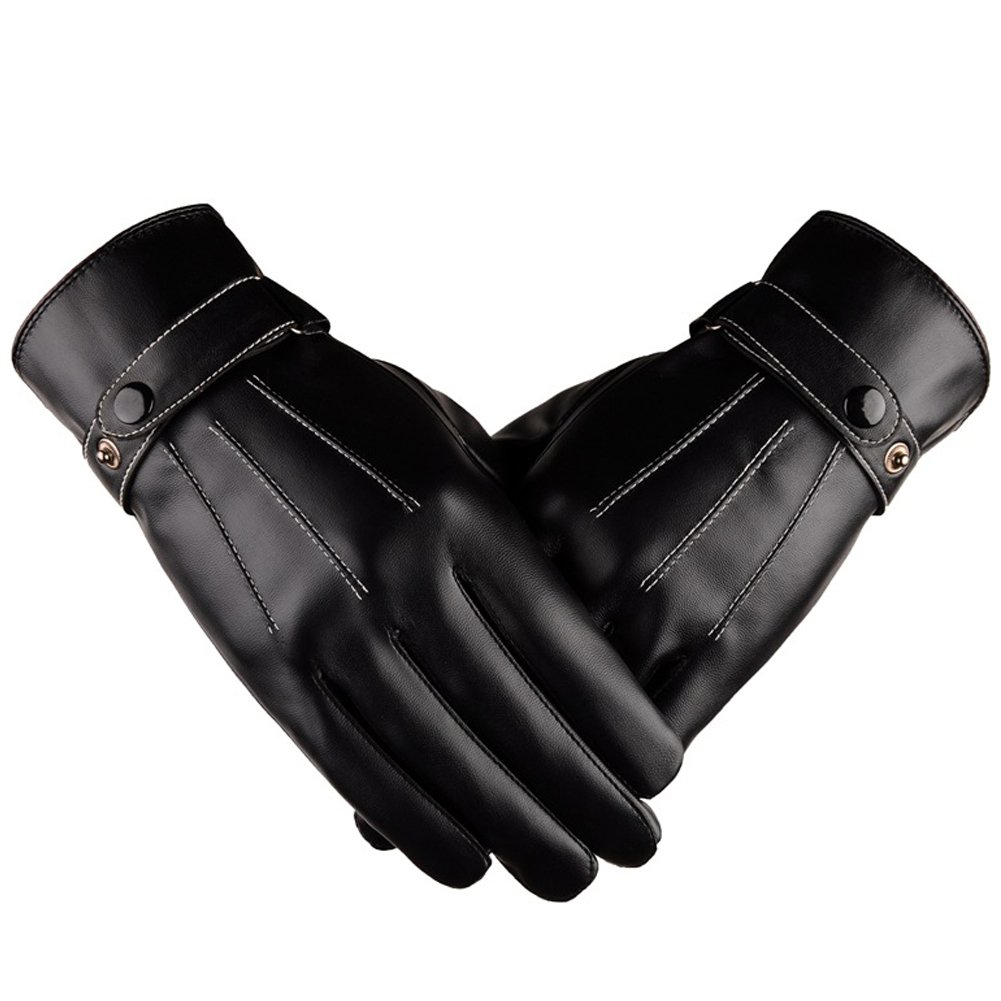 Zerlar Men's business gloves With Touchscreen Leather Italian Classic Style For Gift