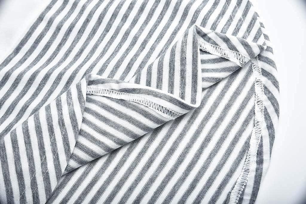Ndream Damen Stillshirt Umstandsmode Langarm Streifen Tricolor Patchwork Schwanger T-Shirt Casual Maternity Shirt Umstandsshirt Stilltop Umstandstop
