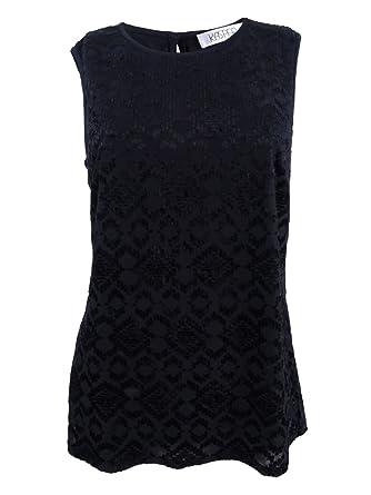 9cb8fd907d4 Kasper Women s Burnout-Knit Scoop-Neck Shell Top (S