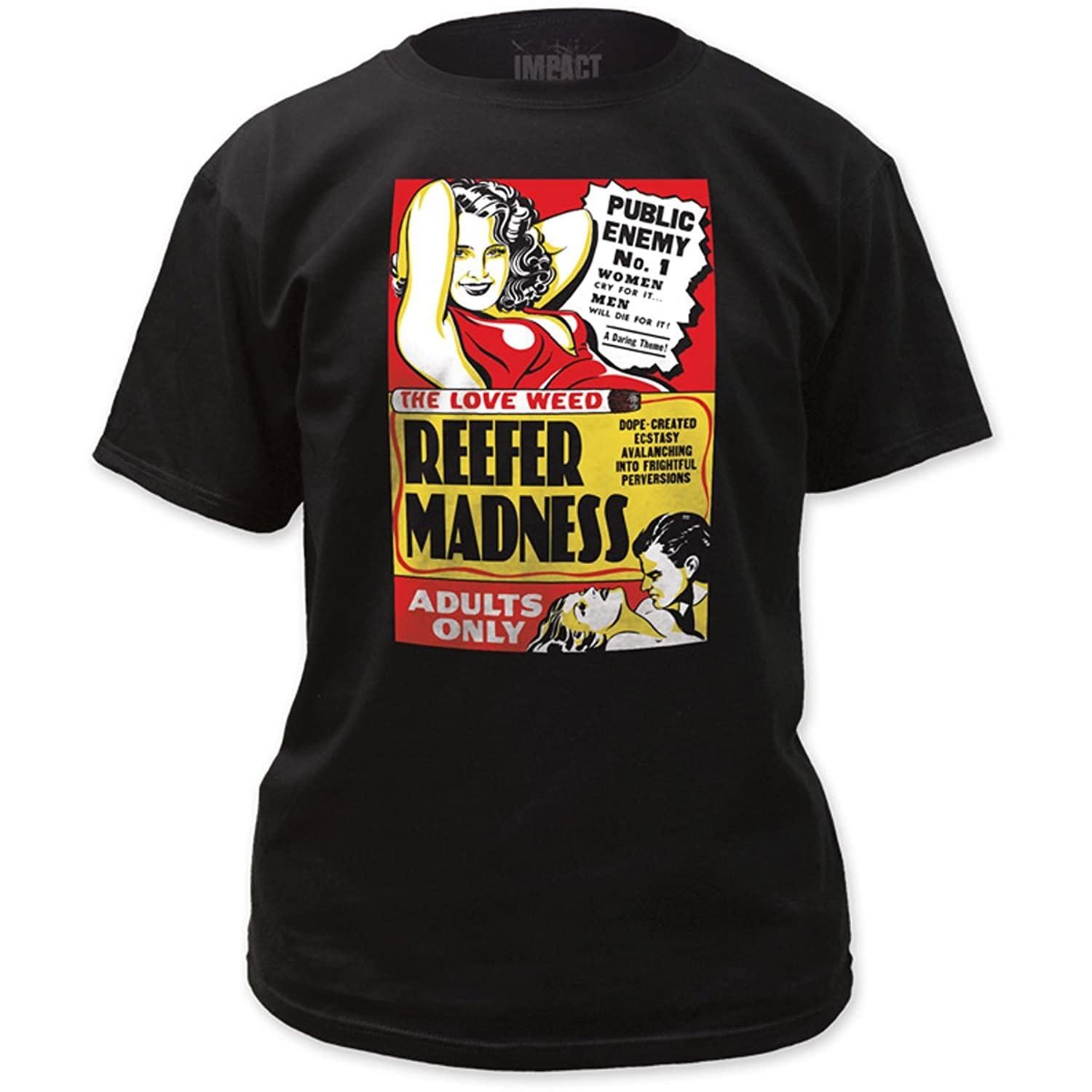 Impact Originals - Mens Reefer Madness Fitted T-Shirt in Black