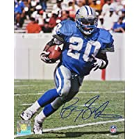 $144 » Barry Sanders Signed Detroit Lions Running With Football Action 8x10 Photo
