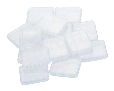 Bluecell Unidades 15 plástico Transparente Funda para ...