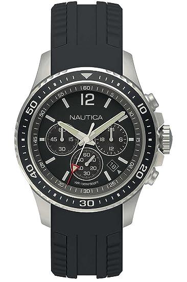 Reloj Nautica NAPFRB010 - Cronógrafo Cuarzo para Hombre en Silicona: Amazon.es: Relojes