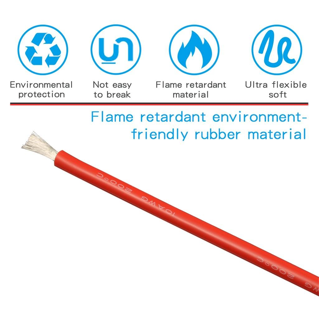 BNTECHGO 10 Gauge Silicone Rubber Wire 20ft Red Ultra Flexible Silicone Wire 600V 200 deg C High Resistant 10 Awg Silicone Wire 1050 Strands 0.08mm Fine Tinned Copper Conductor Wire bntechgo.com