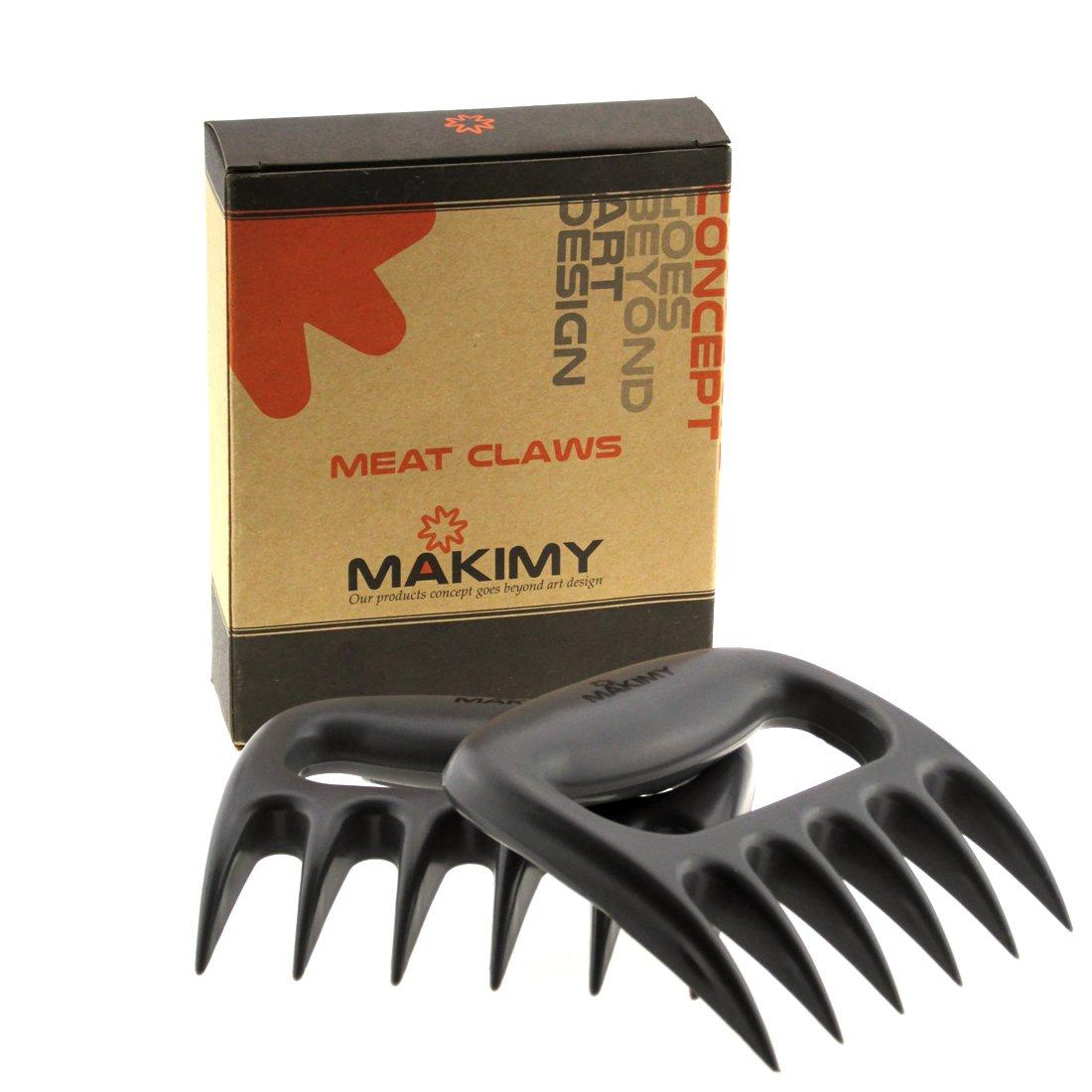 Makimy Pulled Pork Shredder Meat Claws - Best Meat handling Forks