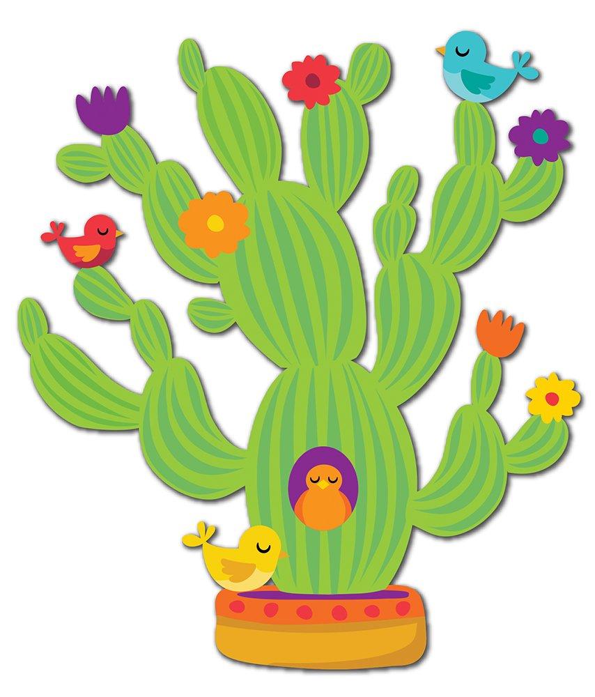 Eureka Cactus Themed Decor Classroom Decorations,18'' x 0.1'' x 28'', 37pc
