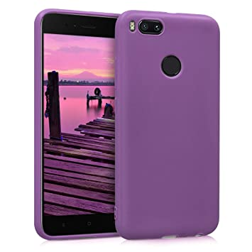 kwmobile Funda para Xiaomi Mi 5X / Mi A1 - Carcasa para móvil en TPU Silicona - Protector Trasero en púrpura Pastel