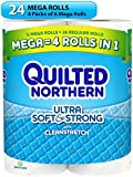 Quilted Northern Ultra Soft & Strong Toilet Paper, Bath Tissue, 24 Count