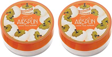 Air spun Loose Face Powder for Setting Makeup or As Foundation, 2Count, Translucent