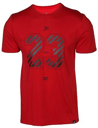 outlet store 13236 7c265 NIKE Jordan Men s Dri-Fit 23 Air Graphic T-Shirt-Gym Red-