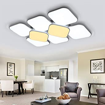 Hengda® 132W LED Deckenleuchte Deckenlampe Korridor Schlafzimmer Badleuchte  Wohnzimmer Modern Gemütliches Licht Markantes Design Wand
