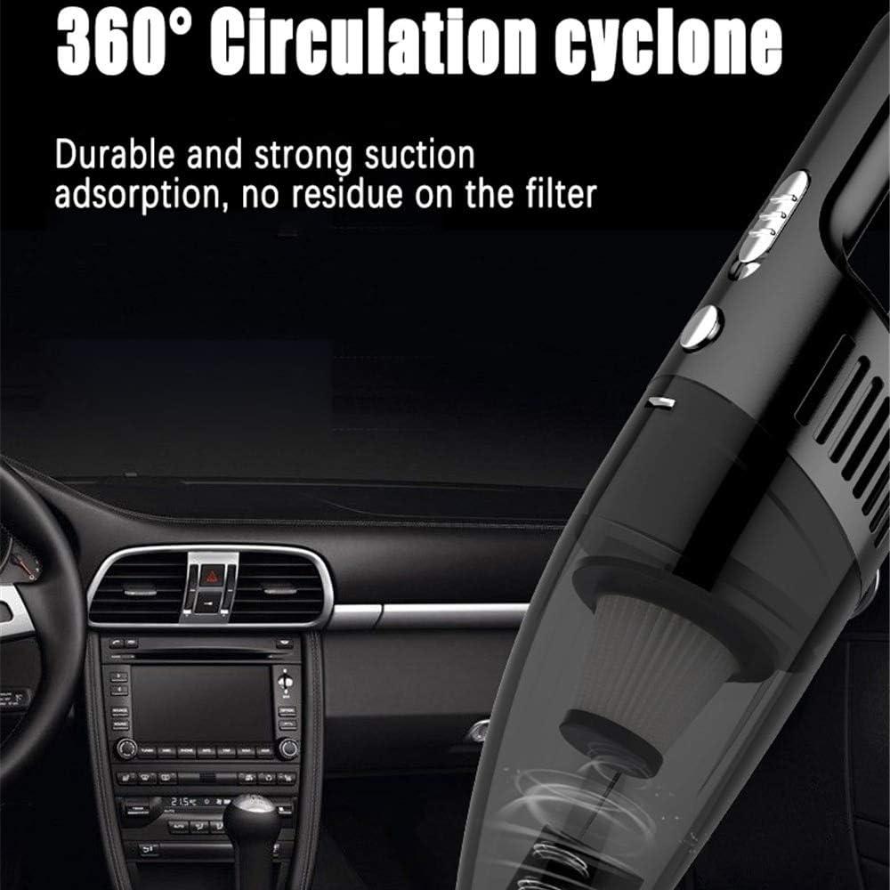 HOUCONG Aspirateur à Main Portable Sec Humide, Chargeur de poussière sans Fil Automatique de Chargement de véhicule, aspirateurs de Voiture 4000pa 120w Noir Black