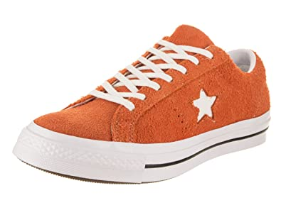c98e97c597db Converse Unisex One Star Ox Bold Mandarin White White Casual Shoe 8 Men US