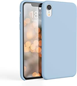 honua. Silicone Case for iPhone XR, Soft and Protective iPhone Case with Microfiber Lining, Compatible with Apple iPhone XR 6.1 inch (Sky Blue)