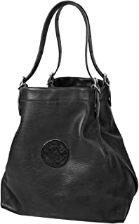 product image for Duluth Pack Pebbled Leather Market Tote Black
