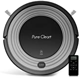 Automatic Programmable Robot Vacuum Cleaner - Robotic Auto Home Cleaning for Clean Carpet Hardwood Floor w/Self Activation and Charge Dock - HEPA Pet Hair & Allergies Friendly - PureClean PUCRC96B
