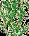 Grace & Gardenia G63152 Tropical Banana Leaf Black/Green Wallpaper