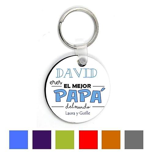 Llavero Personalizado/Regalo Día del Padre/Papa/Hombre/Chico/Cumpleaños/Original