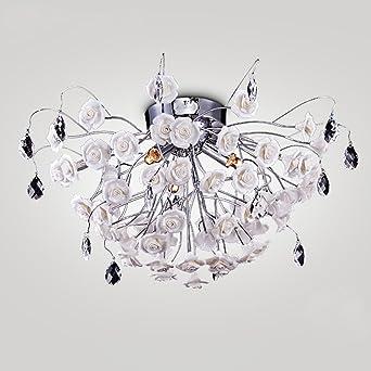 Keramik Deckenleuchten Zum Wohnzimmer, Neuester Entwurf Deckenleuchte, Weiß  Blume Bündig Montieren Zum Schlafzimmer, Elegant Und Romantisch Beleuchtung  ...