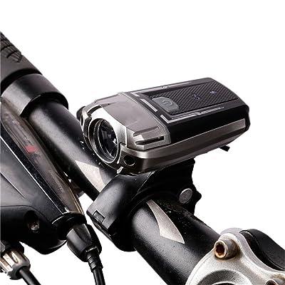 LLTS Location lumière LED Phare RECHARGEABLE USB Casque de sécurité Éclairage Nuit Lumière Vélo guidon clignotant avant