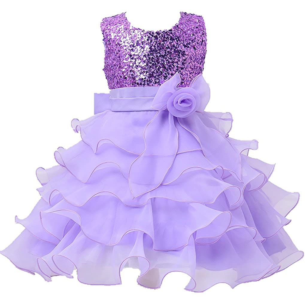 Amazon.com: Kids Showtime Little Girl Baby Special Occasion Sequins ...