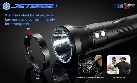 Amazon com: JETBeam SSR50 Super Bright Rechargeable LED
