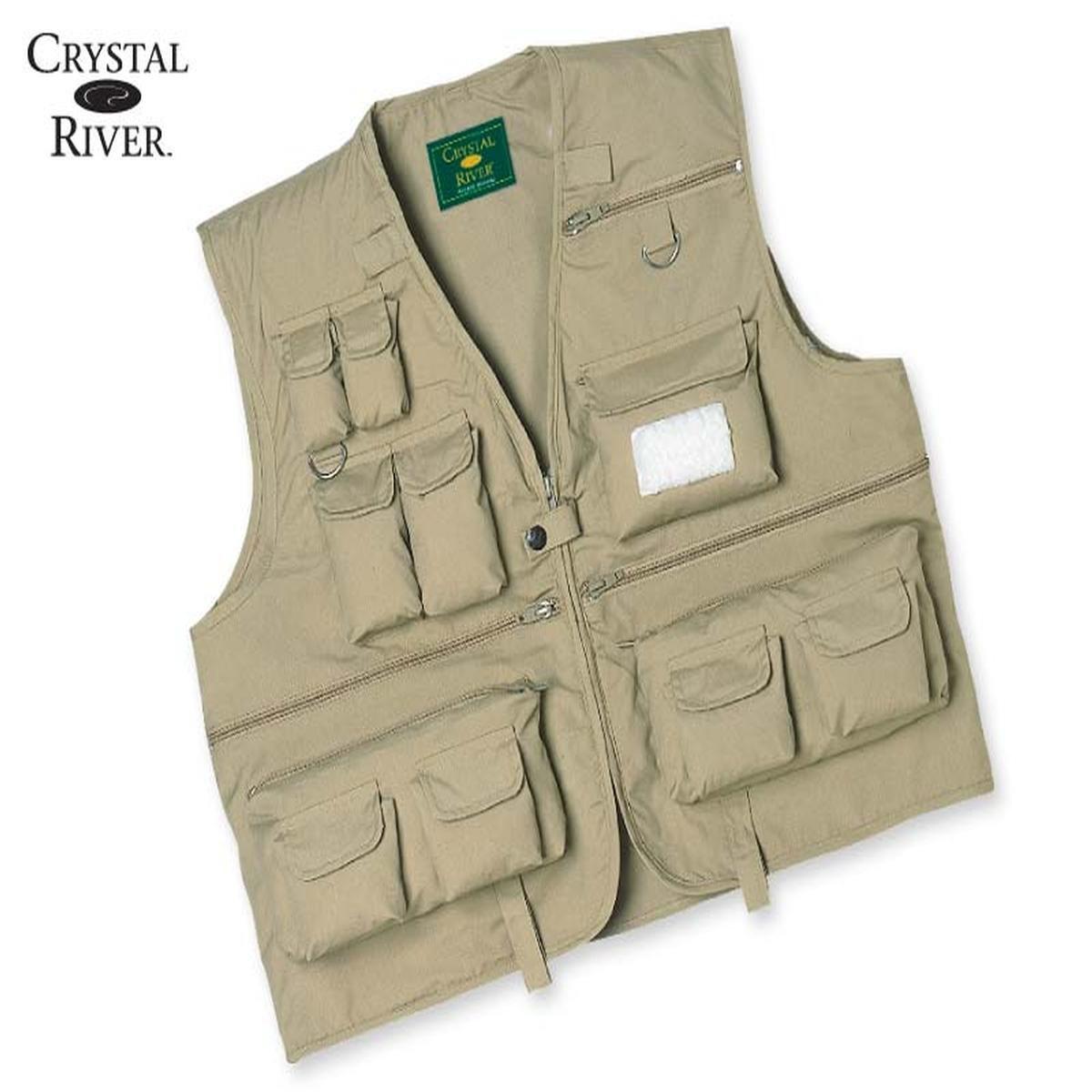 Crystal river c r fly fishing vest khaki xx large for Fishing vest amazon