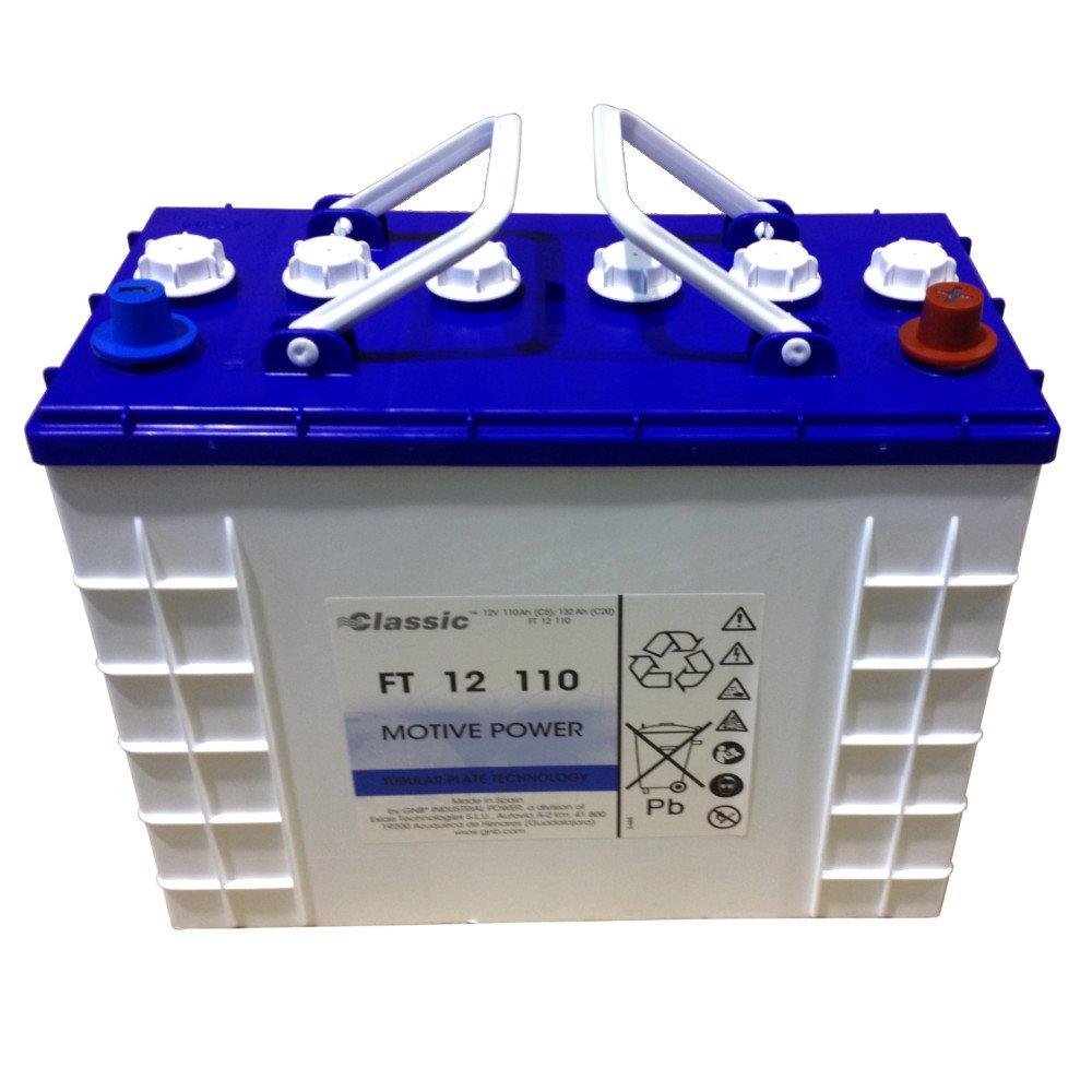 EXIDE Classic FT12 110 Batterie 12 Volt 110 AH Blockbatterie(Nass) mit Röhrchenplatten(Panzerplatte)