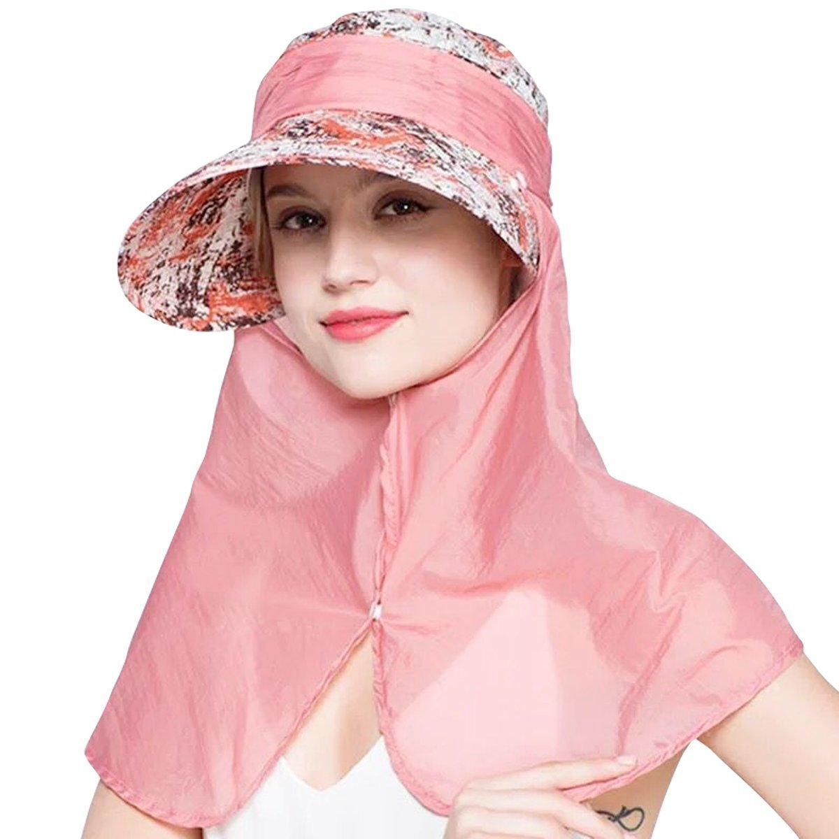 EINSKEY Womens Visor Hat with Neck Flap Summer 360° UV Protection Sun Hat hat-10