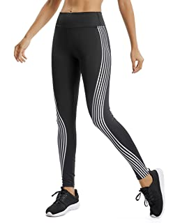a16c9c076b MISS WEEKEND Women's Geometry Print High Waist Yoga Pants Tummy Control  Workout Leggings