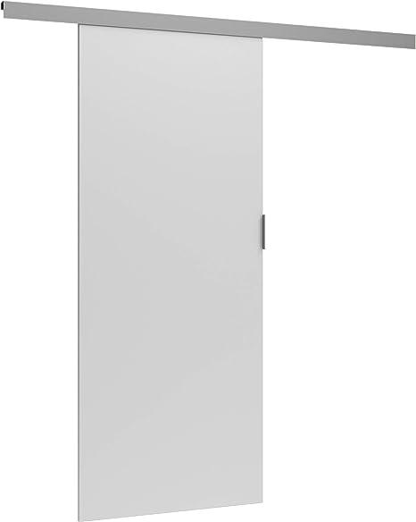 Puerta corredera TES AGAT de 86 cm con separador para puerta interior, Blanco: Amazon.es: Bricolaje y herramientas