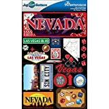 Reminisce Jet Setters Dimensional Stickers-Nevada