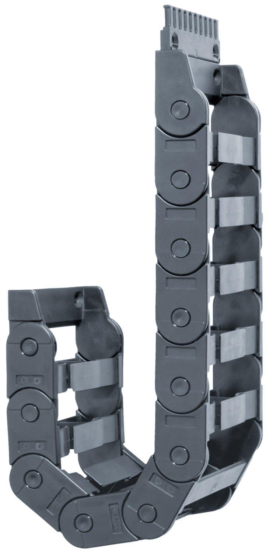 Igus E200-05-100-0 Energy Chain Cable Carrier, Polymer, EZ-Split Crossbar, 0.79 Max Cable Diameter, 0.96'' Inner Height, 2.24'' Inner Width, 3.94'' Bend Radius, 3ft'' Chain Length