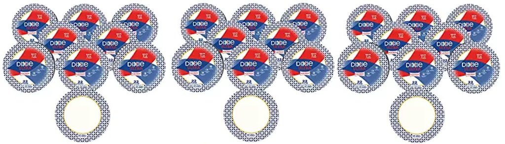 Dixie Ultra Heavy Duty Paper Plates, Dinner Size (10 1/16 Inch) Plates, 528 Count (24 Packs of 22 Plates); Designs May Vary