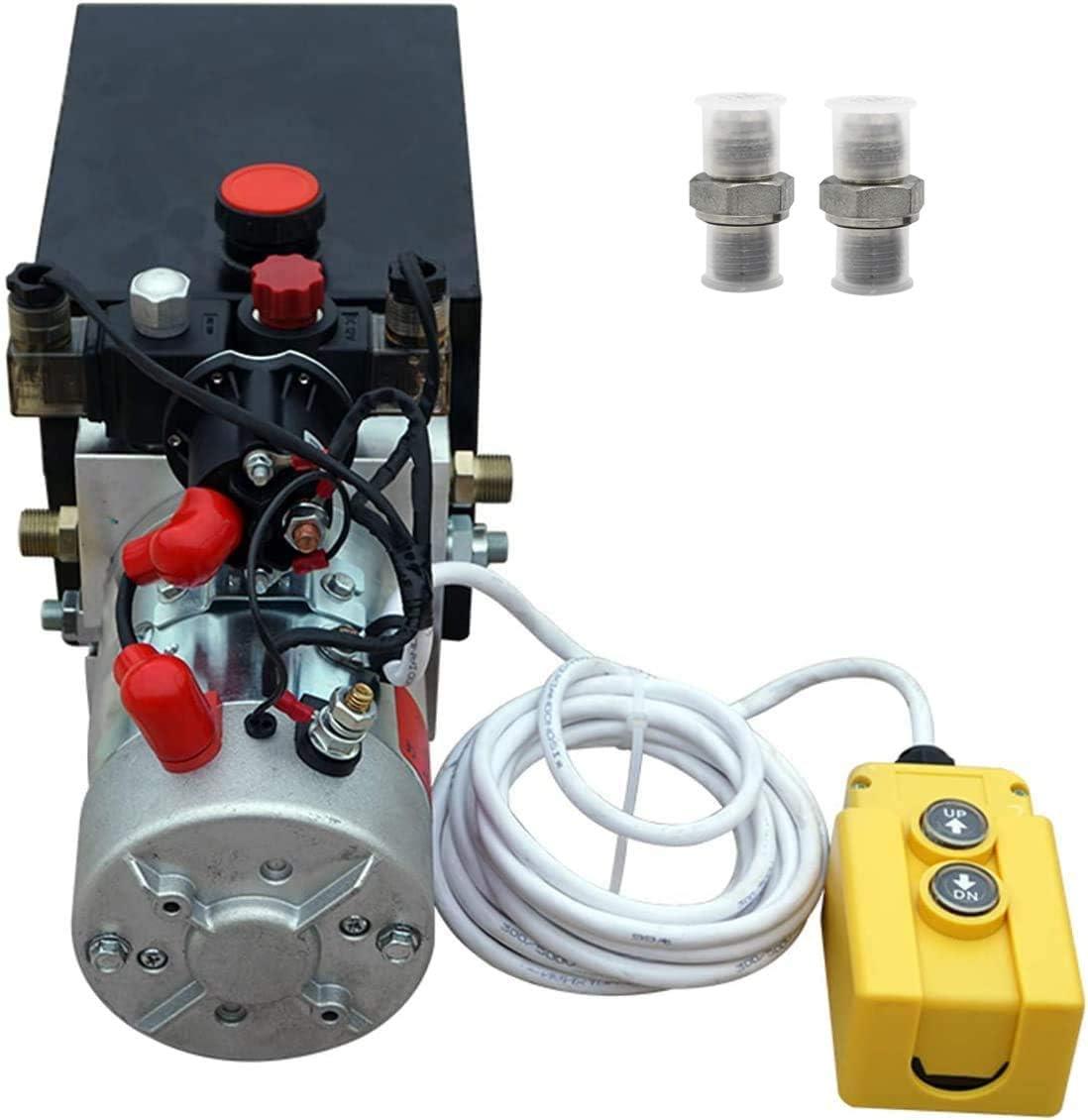Amazon.com: New 12V Hydraulic Pump /Hydraulic power unit/Electric dump  trailer power unit (Double Acting 6 Quart ): Home Improvement | Wrecker Hydraulic Wiring Diagram |  | Amazon.com
