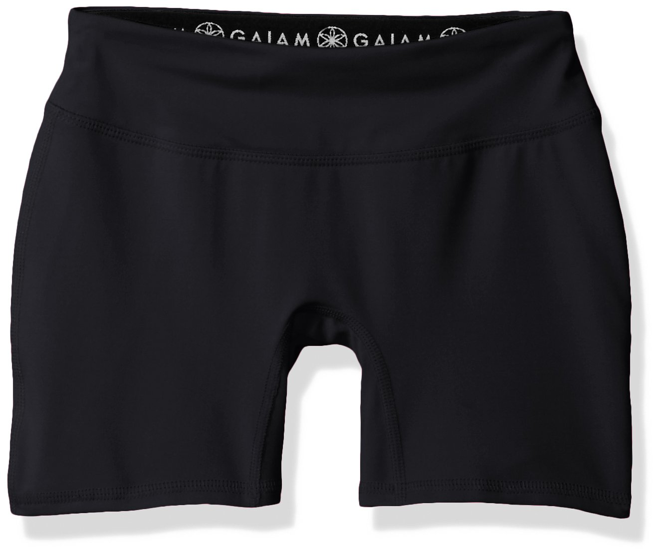 Gaiam Big Girls' Yoga Boy Short, Black, 7/8