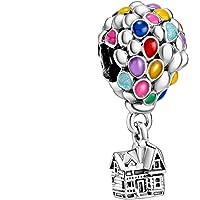 LaMenars Ratón de la suerte Charm 925 Colgantes de plata para pulseras y collares para mujeres y niñas
