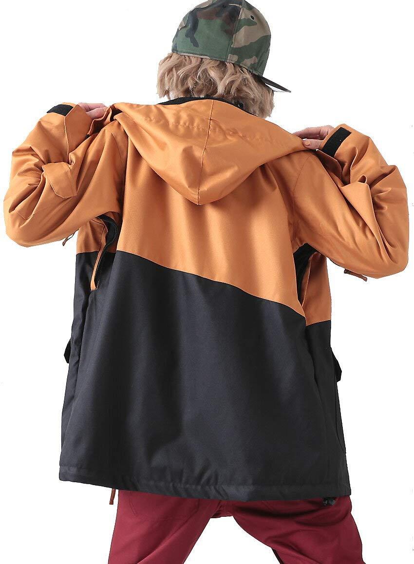 le-Rhythm(リアリズム) スノーボードウェア メンズ ジャケット スノーボードウェア ジャケット レディース メンズ ユニセックス キャメルxブラック RM-2JK83  S(レディースL)