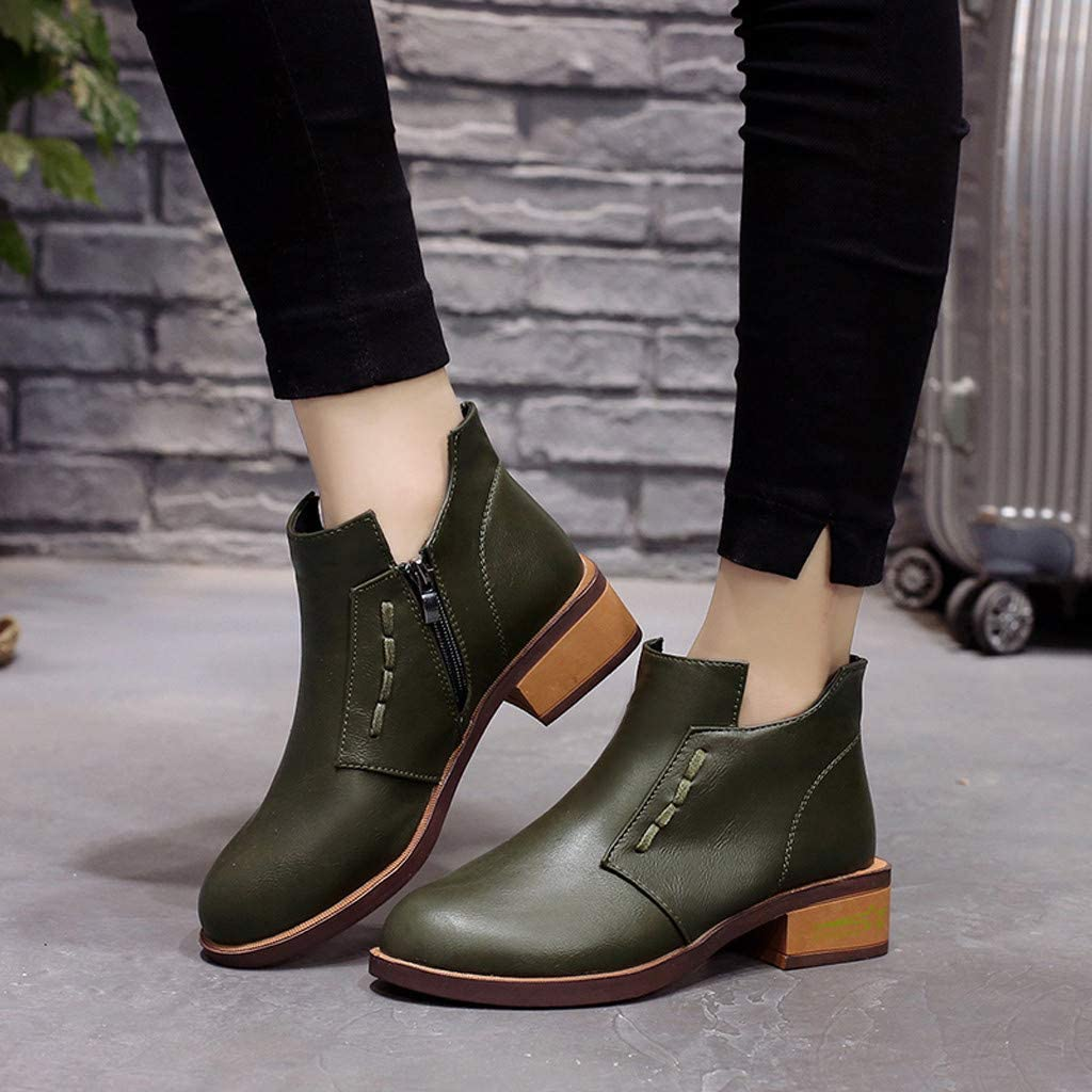 Ladies Womans Booties and Ankle Boots Miuye yuren Waterproof Snow Boots Womens Office Party Everyday Shoes