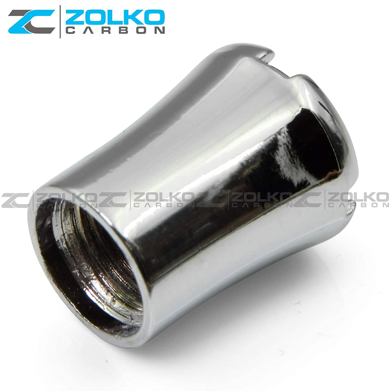 ZolkoCarbon Valve Stem Caps Chrome for Mercedes Benz