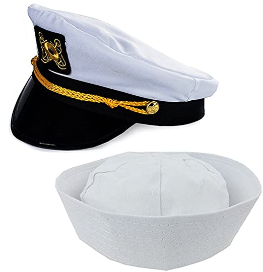 d76524614b54b Image Unavailable. Image not available for. Color  Funny Party Hats Adult Captain s  Yacht ...