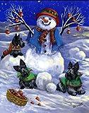 Scottish Terrier Snowman%2DGF