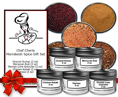 Chef Cherie's Marrakesh Spice Gift Set - Contains 5 2 oz. Tins