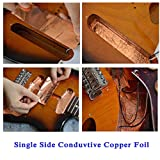 10 Pieces Copper Foil Tape with Conductive Adhesive Copper Sheets for Guitar & EMI Shielding, Crafts, Paper Circuits, Stained Glass, Electrical Repairs, Grounding
