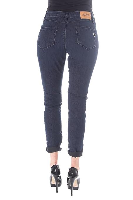 Please, Damen Jeans Hose, Slim,Twill Stretch,Dorie Blue [20408]